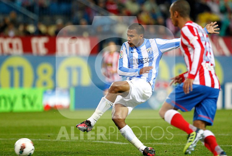 Madrid (05/05/2012).- Estadio Vicente Calderon..Liga BBVA.Atletico de madrid - Malaga Club de Futbol..Rondon...Photo: Alex Cid-Fuentes / ALFAQUI..