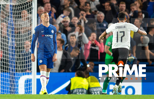Chelsea's Ross Barkley after missing penalty during the UEFA Champions League match between Chelsea and Valencia  at Stamford Bridge, London, England on 17 September 2019. Photo by Andrew Aleksiejczuk / PRiME Media Images.