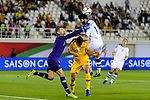 Goalkeeper Mathew Ryan of Australia (L) reaches for the ball after an attempt at goal by Jaloliddin Masharipov of Uzbekistan (R) during the AFC Asian Cup UAE 2019 Round of 16 match between Australia (AUS) and Uzbekistan (UZB) at Khalifa Bin Zayed Stadium on 21 January 2019 in Al Ain, United Arab Emirates. Photo by Marcio Rodrigo Machado / Power Sport Images