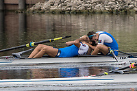 Sarasota. Florida USA.  Gold Medalist ITA M2- Bow. Matteo LODO and  Giuseppe VICINO,  Final A. 2017 World Rowing Championships, Nathan Benderson Park<br /> <br /> Saturday  30.09.17   <br /> <br /> [Mandatory Credit. Peter SPURRIER/Intersport Images].<br /> <br /> <br /> NIKON CORPORATION -  NIKON D500  lens  VR 500mm f/4G IF-ED mm. 320 ISO 1/1250/sec. f 8