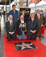 Mitch O'Farrell, Rupert Friend, Mandy Patinkin, Patti LuPone, Jeff Zarrinnam & Vin Di Bona  at the Hollywood Walk of Fame Star Ceremony honoring actor Mandy Patinkin on Hollywood Boulevard, Los Angeles, USA 12 Feb. 2018<br /> Picture: Paul Smith/Featureflash/SilverHub 0208 004 5359 sales@silverhubmedia.com