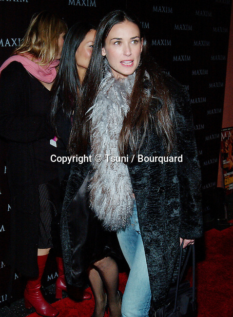 Demi Moore arriving at the Maxim Magazine- Pussycat Dolls  at the Henry Fonda Theatre in Los Angeles. December 3, 2002.           -            MooreDemi072.jpg