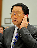 Washington, D.C. - February 24, 2010 --  Akio Toyoda, President and CEO, Toyota Motor Corporation testifies before the U.S. House Committee on Government and Reform examining the Federal government's response to the recall of millions of Toyota vehicles due to reports of malfunctioning gas pedals, and to gain a better understanding of the nature of the sudden acceleration problem in Toyota vehicles and what should be done about it.  .Credit: Ron Sachs / CNP.(RESTRICTION: NO New York or New Jersey Newspapers or newspapers within a 75 mile radius of New York City)