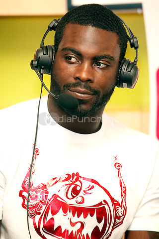Michael Vick pictured during an interview with 97.5 The Fanatic at Aloft Philadelphia Airport Hotel in Philadelphia, Pa on September 13, 2011  © Star Shooter / MediaPunchInc