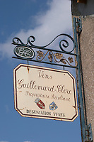 wrought iron sign vins guillemard clerc colmar alsace france