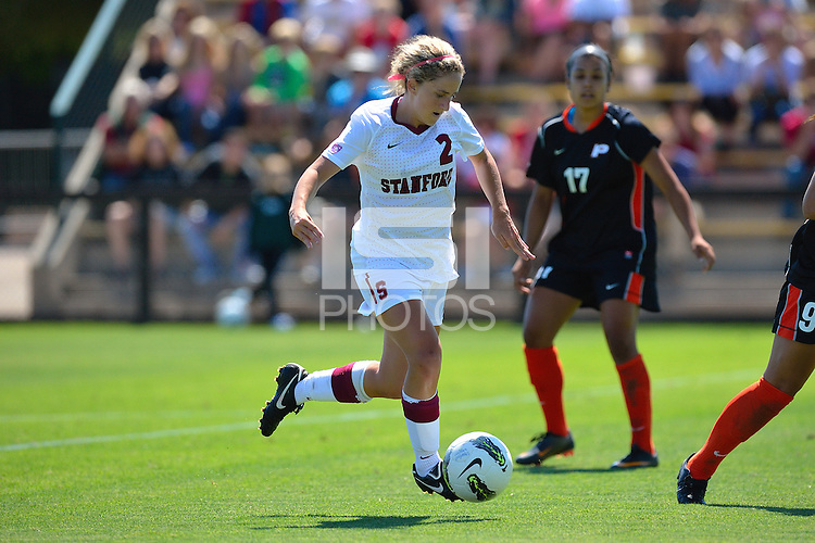 STANFORD, CA - AUGUST 21, 2011: Stanford women's soccer faces off against University of Pacific on August 21, 2011 at Laird Q. Cagan Stadium in Stanford, California.  Stanford topped Pacific, 5-2.