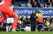 1st October 2017, Goodison Park, Liverpool, England; EPL Premier League Football, Everton versus Burnley; Ronald Koeman, manager of Everton looks on grim faced from the dugout as Everton trail 0-1 during the first half