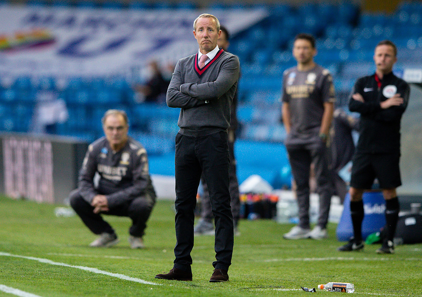 Charlton Athletic manager Lee Bowyer watches on<br /> <br /> Photographer Alex Dodd/CameraSport<br /> <br /> The EFL Sky Bet Championship - Leeds United v Charlton Athletic - Wednesday July 22nd 2020 - Elland Road - Leeds <br /> <br /> World Copyright © 2020 CameraSport. All rights reserved. 43 Linden Ave. Countesthorpe. Leicester. England. LE8 5PG - Tel: +44 (0) 116 277 4147 - admin@camerasport.com - www.camerasport.com