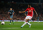 Marcus Rashford of Manchester United takes a shot on goal during the Europa League Semi Final 2nd Leg match at Old Trafford Stadium, Manchester. Picture date: May 11th 2017. Pic credit should read: Simon Bellis/Sportimage