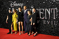 LONDON, ENGLAND - October 09: Cast attending the European Premiere of 'Maleficent: Mistress of Evil' at BFI IMAX Waterloo on October 09, 2019 in London, England.<br /> CAP/MAR<br /> ©MAR/Capital Pictures /MediaPunch ***NORTH AMERICA ONLY***