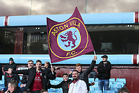 Aston Villa fans hold there flag proudly before the match against Birmingham City. <br /> <br /> Photographer Leila Coker/CameraSport<br /> <br /> The EFL Sky Bet Championship - Aston Villa v Birmingham City - Sunday 11th February 2018 - Villa Park - Birmingham<br /> <br /> World Copyright &copy; 2018 CameraSport. All rights reserved. 43 Linden Ave. Countesthorpe. Leicester. England. LE8 5PG - Tel: +44 (0) 116 277 4147 - admin@camerasport.com - www.camerasport.com