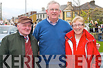 Pictured at the rail line walk from St. Brendans Church, Tralee on Sunday from left: Pat Condon, John Duffy and Nuala Duffy..