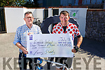 Enable Ireland's Sean Scally received a cheque from Tommy Sheehy in the amount of €11,003 from several 8 hour Spinning Sessions and 5 day cycle from Barcelona to Velencia in Spain.