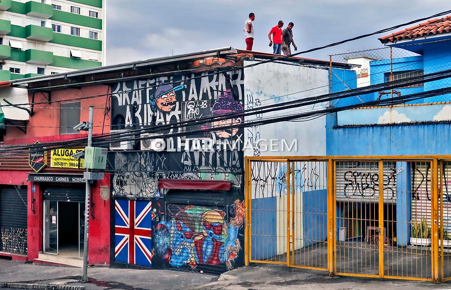 Casas e lojas, rua Cardeal Arcoverde, Sao Paulo. 2019. Foto Juca Martins.
