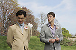 "Actors Kai Chapman & David Gregory on set - Shooting on May 1, 2011 - ""Excuse Me For Living"" - A Romantic Comedy - an Independent Film written, directed and produced by Ric Klass. (Photos by Sue Coflin/Max Photos)"