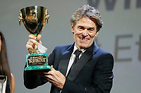 VENICE - September 8: Willem Dafoe recives Coppa Volpi on September 8, 2018 in Venice, Italy.(By Mark Cape/Insidefoto)