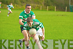 South Kerry's Niall O'Shea collects the ball ahead of Colaiste Chriost Ri's Sean Sheahan in their Corn Ui Mhuiri first round clash in Direen, Killarney on Wednesday.   Copyright Kerry's Eye 2008