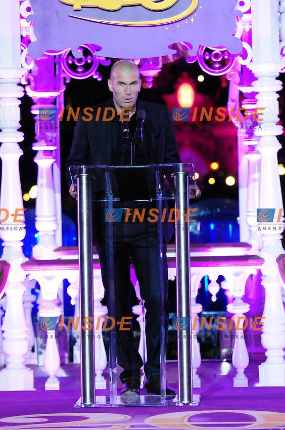 Zinedine Zidane .MARNE LA VALLEE 1/4/2012.Festeggiamenti per i 20 anni del parco divertimenti Eurodisney.Foto Insidefoto / Anthony Ghnassia / Panoramic.ITALY ONLY