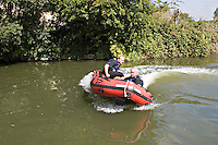 Specialist firecrew training for swift water rescue. This image may only be used to portray the subject in a positive manner..©shoutpictures.com..john@shoutpictures.com