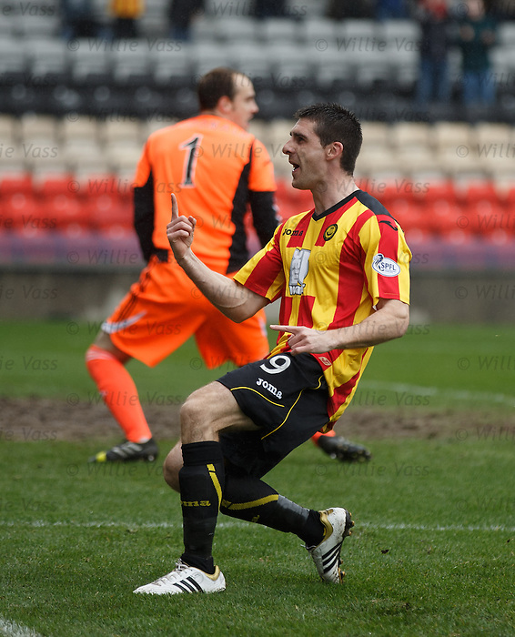 Kris Doolan celebrates his goal for Partick Thistle against Hearts