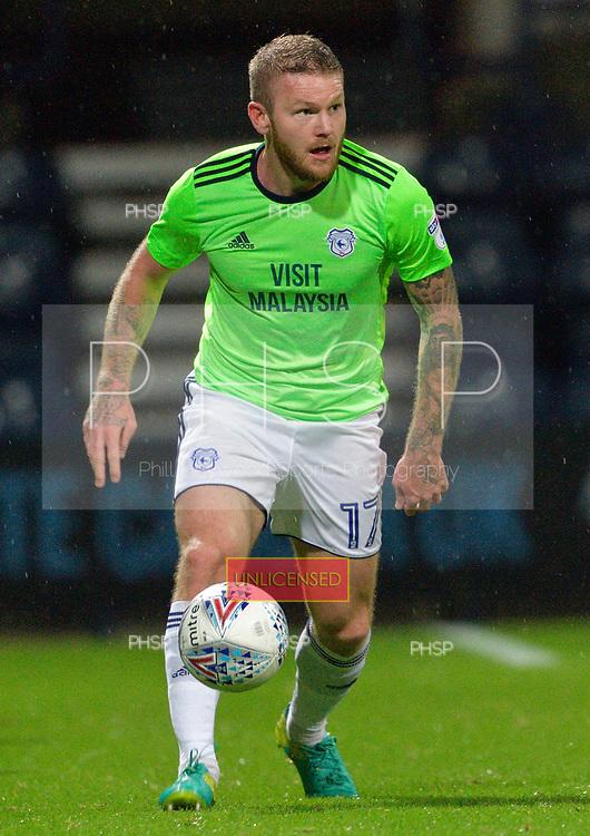12/09/2017 Sky Bet League Championship Preston North End v Cardiff City<br /> <br /> Aron Gunnarsson, Cardiff City FC