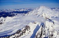 Aerial of Mt. Baker, Northern Cascade Range, Washingto