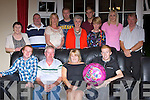 Joan Cahill Currow who celebrated her 50th birthday at her home with her family on Saturday night front row l-r: Denis, Michael, Joan and Stephen Cahill. Back row: Sheila McGlynn, Johnny Huggard, Mary Pembroke, Mike Cahill, Mary Huggard, David King, Bina Cahill, Reidin Horan and Noel Pembroke