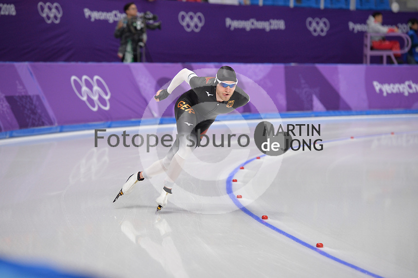 OLYMPIC GAMES: PYEONGCHANG: 15-02-2018, Gangneung Oval, Long Track, 10.000m Men, Patrick Beckert (GER), ©photo Martin de Jong