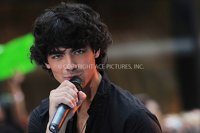 WWW.ACEPIXS.COM . . . . . ....June 19 2009, New York City....Joe Jonas of The Jonas Brothers perform on NBC's 'Today' at Rockefeller Center on June 19, 2009 in New York City.....Please byline: KRISTIN CALLAHAN - ACEPIXS.COM.. . . . . . ..Ace Pictures, Inc:  ..tel: (212) 243 8787 or (646) 769 0430..e-mail: info@acepixs.com..web: http://www.acepixs.com