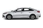 Car driver side profile view of a 2018 Hyundai Sonata Eco 4 Door Sedan