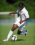 1 September 2009: University of Vermont Catamount forward Alassane Kane, a Freshman from Macon, GA, in action against the Siena College Saints at Centennial Field in Burlington, Vermont. The Saints edged out the Catamounts 1-0. Mandatory Photo Credit: Ed Wolfstein Photo