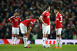 Manchester United dejected during the UEFA Europa League match at Old Trafford. Photo credit should read: Philip Oldham/Sportimage