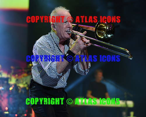 WEST PALM BEACH, FL - JULY 20: James Pankow of Chicago performs at The Coral Sky Amphitheatre on July 20, 2018 in West Palm Beach Florida. Credit Larry Marano © 2018