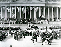 The Inauguration of Theodore Roosevelt on the East Front of the U.S. Capitol. March 4, 1905.<br /> <br /> Photo by Architect of the Capitol photographers.
