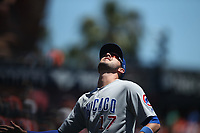 SAN FRANCISCO, CA - JULY 11:  Kris Bryant #17 of the Chicago Cubs chases a pop up against the San Francisco Giants during the game at AT&T Park on Wednesday, July 11, 2018 in San Francisco, California. (Photo by Brad Mangin)