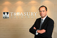 Chairman of Treasury Holdings Richard Barrett poses for a photograph in Treasury Holdings headquarters in Shanghai, China, Tuesday, January 29, 2008. Photo by Lucas Schifres/Sinopix