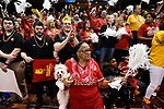 SIOUX FALLS, SD - MARCH 24: Ferris State University fans cheer prior to the Division II Men's Basketball Championship held at the Sanford Pentagon on March 24, 2018 in Sioux Falls, South Dakota. Ferris State University defeated Northern State University 71-69. (Photo by Tim Nwachukwu/NCAA Photos via Getty Images)