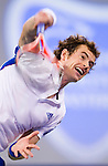 SHANGHAI, CHINA - OCTOBER 14:  Andy Murray of Great Britain serves to Jeremy Chardy of France during day four of the 2010 Shanghai Rolex Masters at the Shanghai Qi Zhong Tennis Center on October 14, 2010 in Shanghai, China.  (Photo by Victor Fraile/The Power of Sport Images) *** Local Caption *** Andy Murray