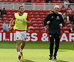 Billy Sharp of Sheffield Utd warms up during the Championship match at the Riverside Stadium, Middlesbrough. Picture date: August 12th 2017. Picture credit should read: Simon Bellis/Sportimage