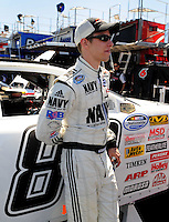 Apr 10, 2008; Avondale, AZ, USA; NASCAR Nationwide Series driver Brad Keselowski during the Bashas Supermarkets 200 at the Phoenix International Raceway. Mandatory Credit: Mark J. Rebilas-