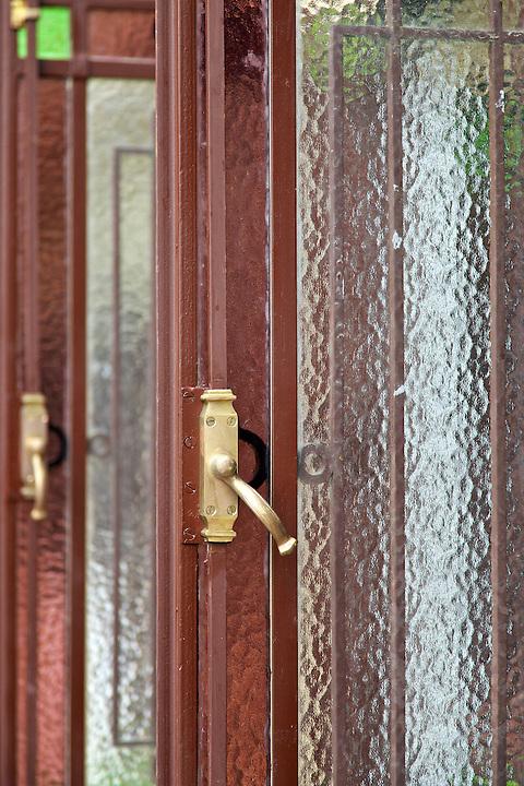 A window latch.