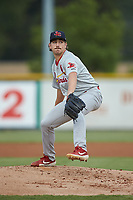 Johnson City Cardinals starting pitcher Jake Sommers (52) in action against the Burlington Royals at Burlington Athletic Stadium on September 4, 2019 in Burlington, North Carolina. The Cardinals defeated the Royals 8-6 to win the 2019 Appalachian League Championship. (Brian Westerholt/Four Seam Images)