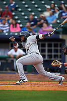 San Antonio Missions outfielder Yeison Asencio (14) at bat during a game against the NW Arkansas Naturals on May 30, 2015 at Arvest Ballpark in Springdale, Arkansas.  San Antonio defeated NW Arkansas 5-1.  (Mike Janes/Four Seam Images)