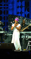 "August 25, 2011 (Washington, DC)  India Arie performed at ""The Message in the Music"" at the Washington Convention Center on August 25, 2011.  The star studded concert was led by musical director Ray Chew, and celebrated of the dedication of the Martin Luther King Jr. Memorial.   (Photo by Don Baxter/Media Images International)"