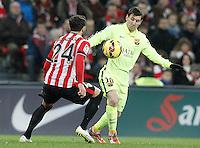 Atletic de Bilbao's Mikel Balenziaga (l) and FC Barcelona's Leo Messi during La Liga match.February 8,2015. (ALTERPHOTOS/Acero) /NORTEphoto.com
