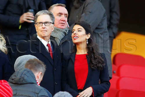 26.11.2016. Anfield, Liverpool, England. Premier League Football. Liverpool versus Sunderland. Liverpool Owner John W Henry and wife in the Directors Box