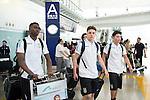 Aston Villa Players arrive at the Hong Kong International Airport for the HKFC Citi Soccer Sevens on 18 May 2016 in Hong Kong, China. Photo by Panda Man / Power Sport Images
