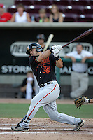 Mike Bianucci of the Bakersfield Blaze during game against the Lake Elsinore Storm at The Diamond in Lake Elsinore,California on July 25, 2010. Photo by Larry Goren/Four Seam Images