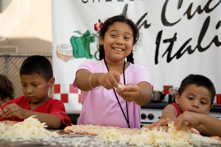 The Kids Pizza Toss at the Feast of San Gennaro - Los Angeles, CA