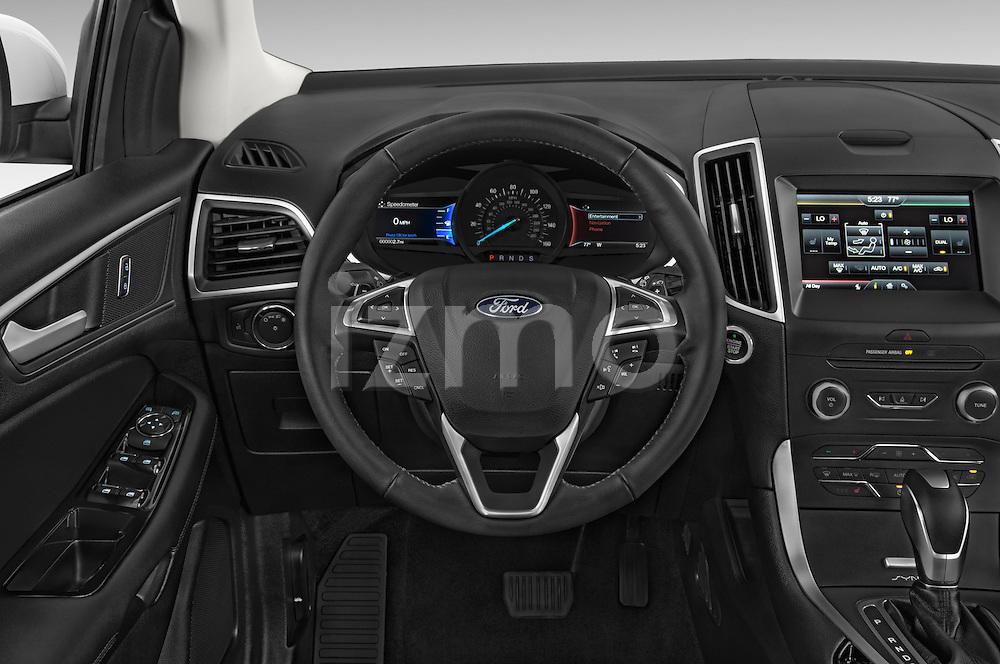 Car pictures of steering wheel view of a 2015 Ford Edge SEL 5 Door Suv Steering Wheel